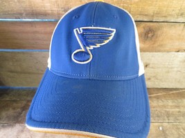 St Louis Blues Hockey Reebok Fitted Onsa Adult Cap Hat - $11.57