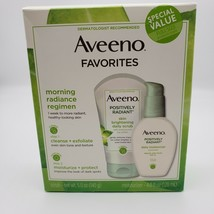 Aveeno Positively Radiant Daily Scrub & Moisturizer 4oz box Exp 01/2022 - $18.95