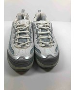 Skechers Womens Shape Ups Jump Start Fitness Toning Shoes Gray Lace Up 1... - $12.99