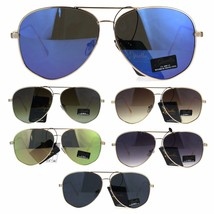 Giselle Womens Oversize Designer Fashion Pilots Metal Rim Sunglasses - $12.95