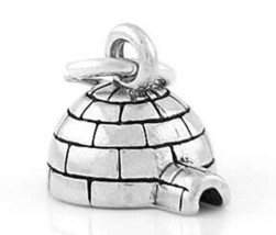Sterling Silver 3D Igloo CHARM/PENDANT - $8.59