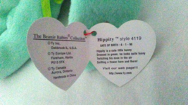 TY Beanie Babies Hippity PVC PELLETS Style # RARE ERRORS Retired image 4