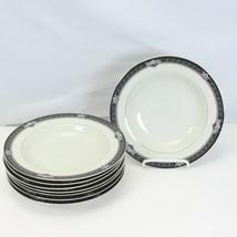 "Mikasa Gothic Rose Rim Soup Bowls 8.5"" Lot of 8 - $71.53"