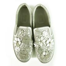 Christian Dior Silver Leather Laser Cut Floral Embellished Mocassins 38 $1,350 - $415.80