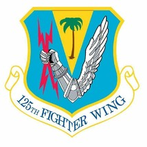 USAF 125th Fighter Wing 12'' Sticker Military - $24.74