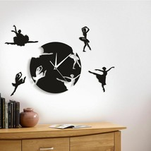 Ballet Dancing Wall Clock Dancing Girls Ballerinas Reloj De Pared De Bai... - $43.29