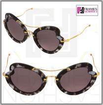 Miu Miu Scenique Butterfly 11R Lilac Havana Purple Gold Sunglasses MU11RS - $182.66