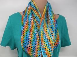 Handcrafted Crocheted Cowl Shawl Wrap Merino Nylon Silk Female Adult Mul... - $53.56