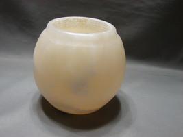 Egyptian Soft White Alabaster ~ Hand Carved Votive Candle Holder - $20.99