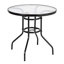 """VINGLI Outdoor Dining Table, 31.5"""" Round Patio Bistro Tempered Glass Tab... - $51.55"""