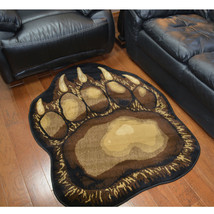 "4x5 (3'8"" x 4'10"") Lodge Cabin Rustic Bear Paw Claw Area Rug *FREE SHIPP... - €100,26 EUR"
