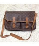 Louis Vuitton Brown Mono Sac Gibeciere Busines-Shoulder Bag 15in x 11in ... - $379.95