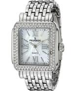 Peugeot Luxury Panther Link Bracelet Tank Watch With Crystal Bezel 7080S - $158.89