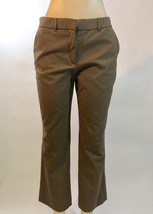 Sag Harbor Stretch Petite 10P Brown zipper/button dress pants career pants - $14.89