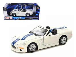 1999 Shelby Series 1 White W/Blue Stripes 1/18 Diecast Model Car by Maisto - $65.99