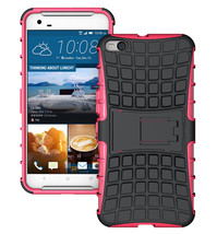 Dual Layer Hybrid Shockproof Protective Cover Case for HTC One X9 - Hot pink  - $4.99