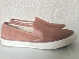 SPERRY TOP-Sider Women's Mauve Seaside Emboss Memory Foam Sneaker 8.5 M - $53.73 CAD