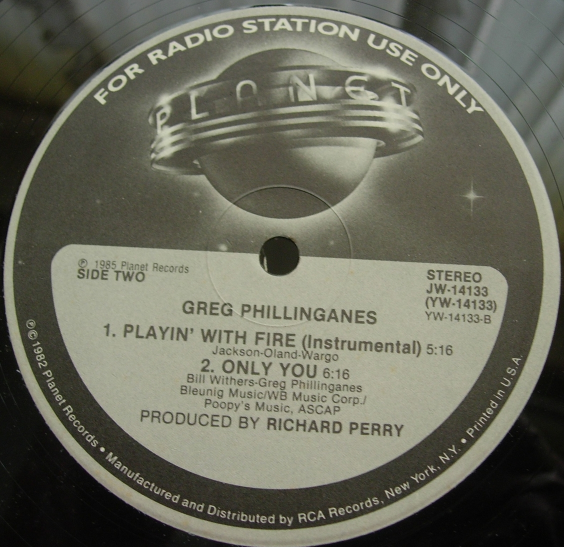 Greg Phillinganes - Playin' With Fire - Planet Records JW-14133