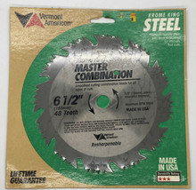 """Vermont American Krome King Saw Blade 6 1/2"""" Master Combination #25207 - $10.17"""