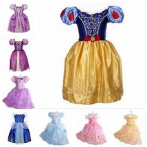 Girls Kids Fancy Dress Up for Snow White Rapunzel Cinderella Costume Out... - $3.99