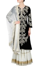 Indian Ethnic Ready to wear Long Embroidery Kurti Sharara Suit Dupatta 108o - $234.55