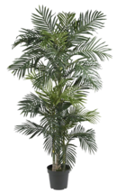 Indoor Tropical Plant Large Realistic Artificial Palm Tree 7ft Fake Pott... - $105.92