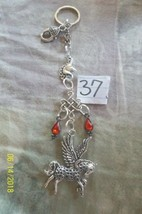 purse jewlrey pegasus unicorn beauty keychain backpack filigree dangle charm #37 image 1