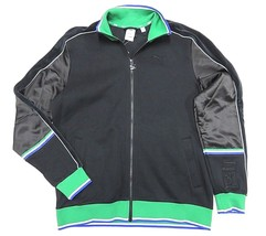 Nwt Puma X Big S EAN Black & Green Full Zip Up Jacket Adult Men's Size Large - $98.95