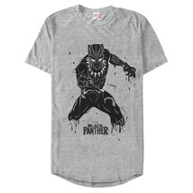 Marvel Black Panther 2018 Drip Pattern Mens Graphic Long T Shirt - $10.99