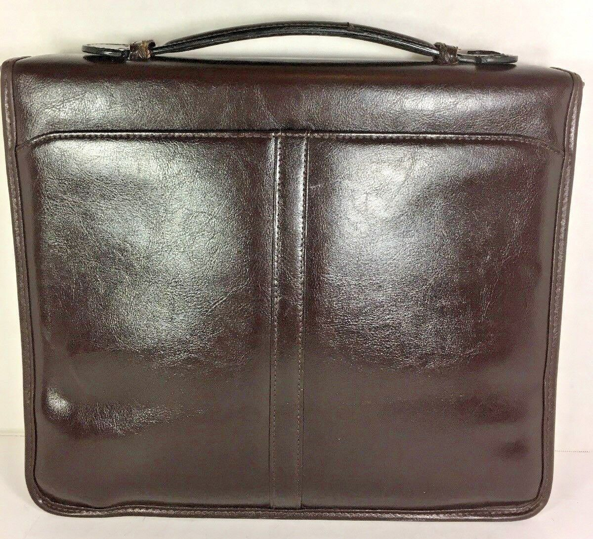 Avenues America Vintage Dark Brown Bonded Leather Zippered Folio Organizer