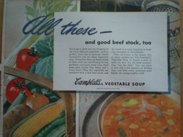Vintage Campbell's Vegetable Soup Print Magazine Advertisement 1945 image 2