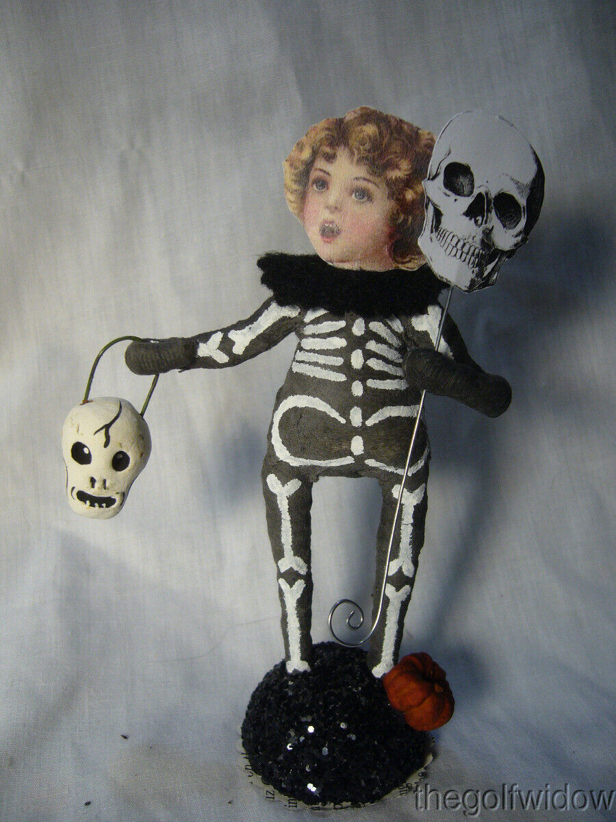 Vintage Inspired Spun Cotton Skeleton Boy Vintage by Crystal no. HW37