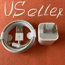 New Genuine Apple Wall Charger + USB Date Charging Cable iPhone6 7 8 X X... - $7.42
