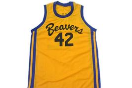Howard #42 Beavers Teen Wolf Movie Men Basketball Jersey Yellow Any Size image 4