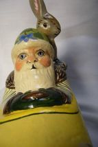 Vaillancourt Folk Art Spring Santa in Car with Rabbit personally signed by Judi image 5