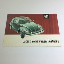 1961 Volkswagen Beetle Latest Features Dealership Car Auto Brochure Catalog - $21.34