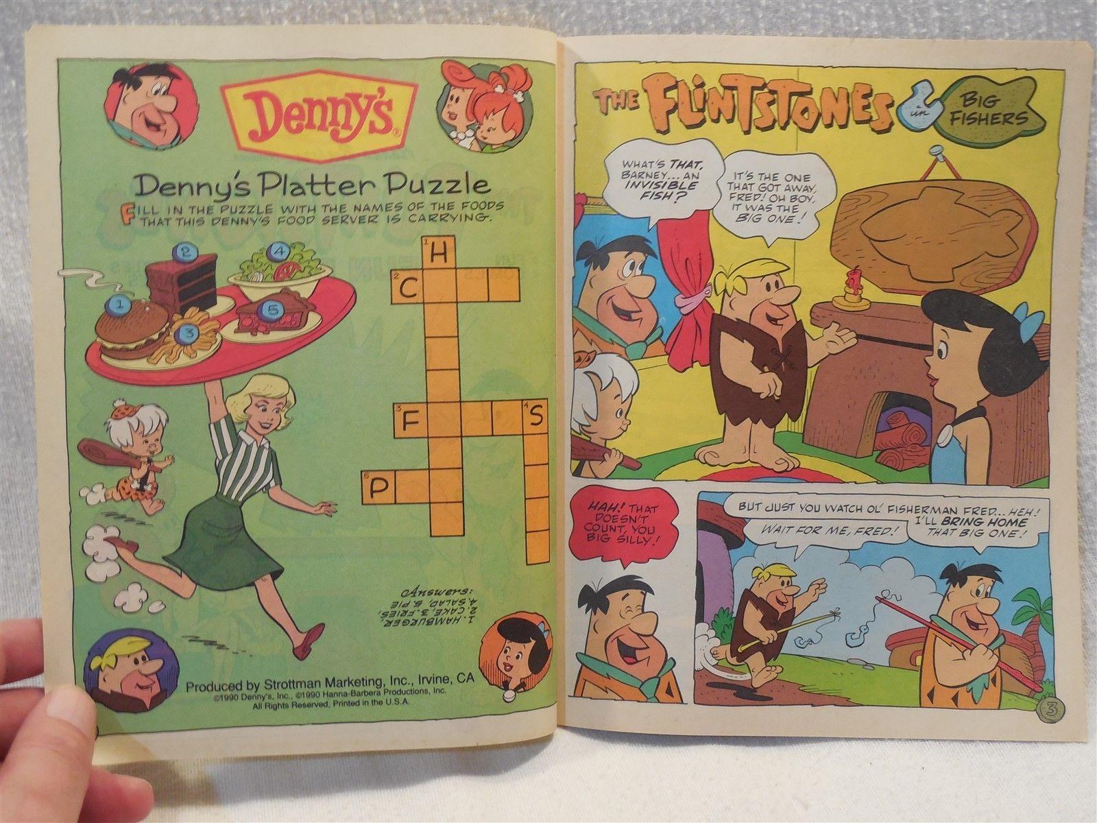 Flintstones 1990 Denny's Unused Fun Book - Comics, Puzzles, Games - Volume 21