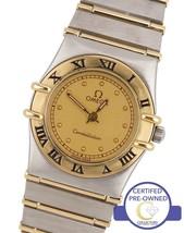 Ladies Omega Constellation Mini 22mm Two-Tone Gold 'Full Bar' Quartz Date Watch - $1,093.01