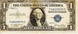 SERIES 1935 E   ONE DOLLAR SILVER CERTIFICATE==CIRCULATED CONDITION - $1.69