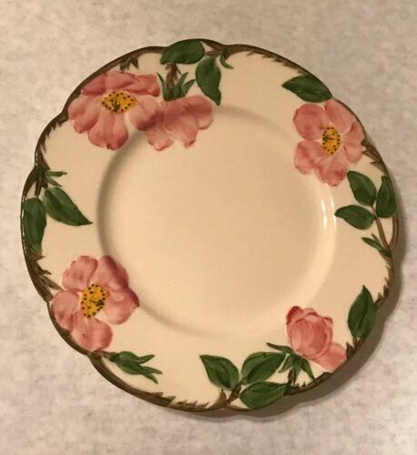 """4 Vintage Franciscan Desert Rose 7 5/8"""" Salad Plate Arch Mark California image 2"""