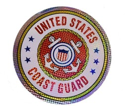 "Wholesale Lot 6 U.S. USCG Coast Guard 12"" Reflective Decal Bumper Sticker - $14.88"