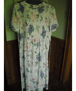 Vintage Kathie Lee Collection Women's Dress (10) Ivory Floral Polyester - $8.50