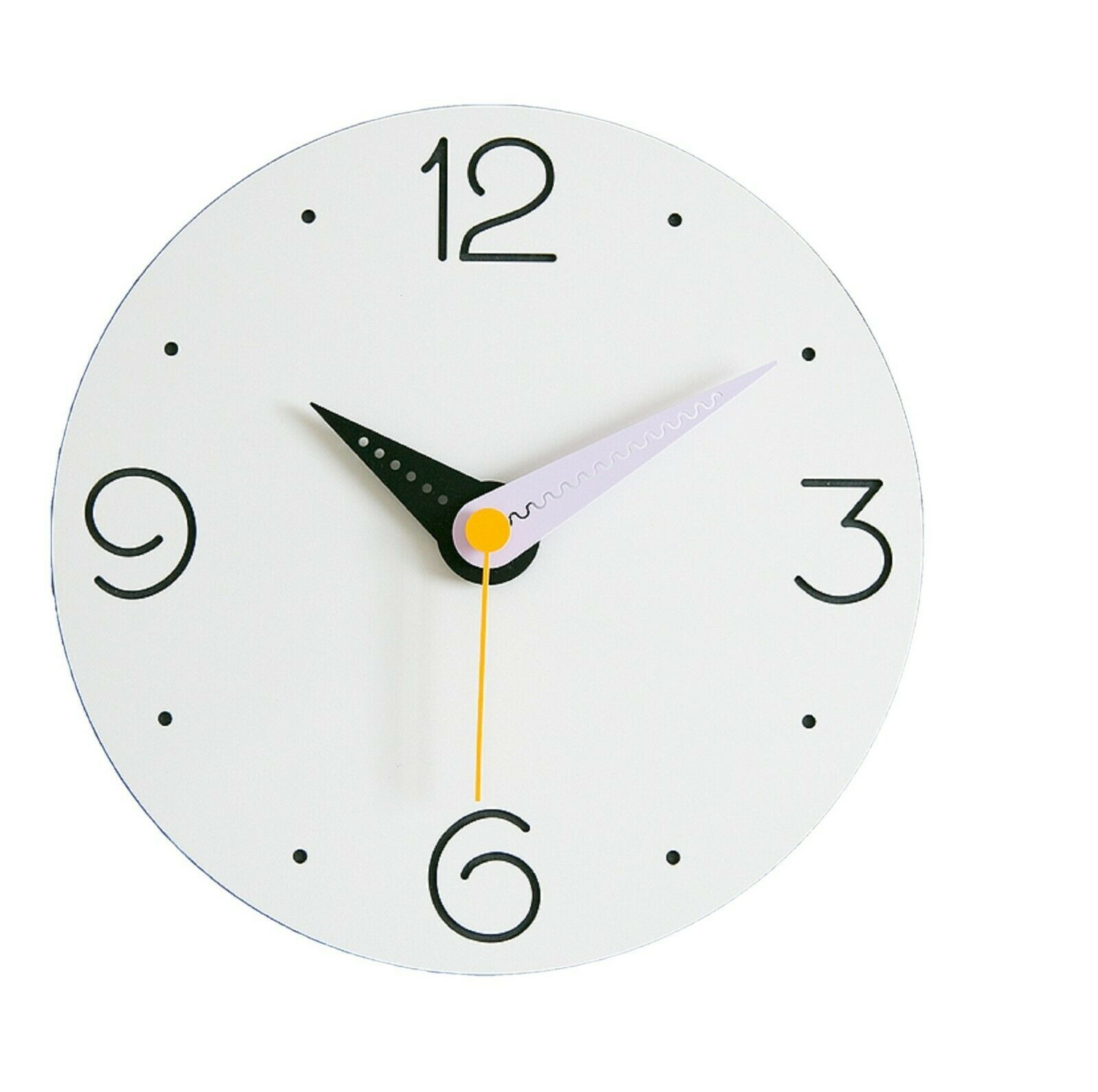 Moro Design Point Line Wall Clock non Ticking Silent Modern Clock (Purple)