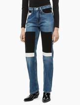 Calvin Klein Jeans Juniors Cotton Patched Straight-Leg Jeans, 24X30, MSRP $148 - $59.39