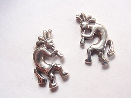Kokopelli Stud Earrings 925 Sterling Silver Corona Sun fertility mytholo... - $9.89
