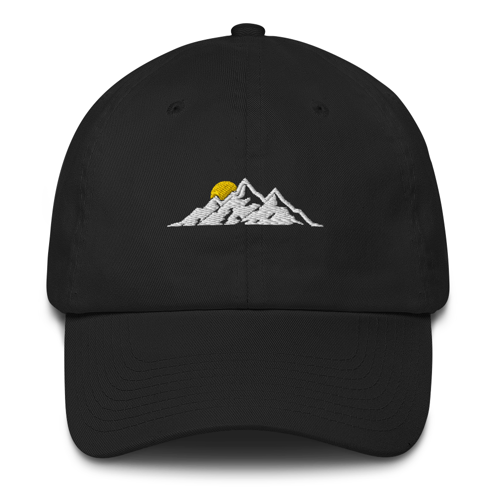 MOUNTAINS HAT / MOUNTAINS EMBROIDERED HAT / MOUNTAINS EMBROIDERED CAP / COTTON C