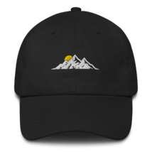 MOUNTAINS HAT / MOUNTAINS EMBROIDERED HAT / MOUNTAINS EMBROIDERED CAP / COTTON C image 1