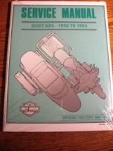 1990 1991 1992 1993 Harley-Davidson Sidecars SERVICE Shop MANUAL NEW in Wrap - $77.07