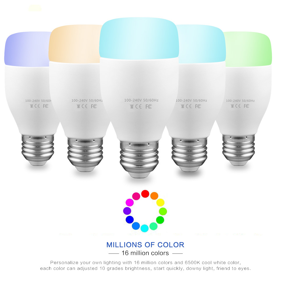 WiFi Smart Bulb 6W E27 RGBW LED