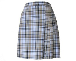 "20"" Stylish Plaid Golf Skort with Attached Shortie - New - GoldenWear - $29.95"